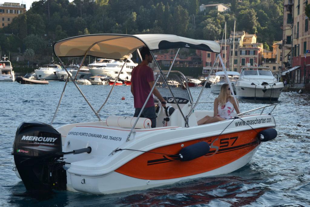 noleggio barche senza patente portofino chiavari San Fruttuoso Rapallo santa margherita 5 terre